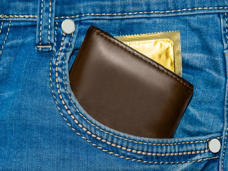 Where to carry your condoms (hint: it's not your wallet)